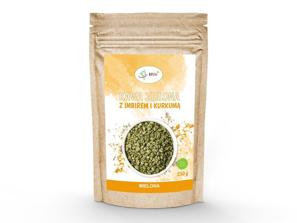 Kawa zielona mielona z imbirem i kurkumą 250g VIVIO