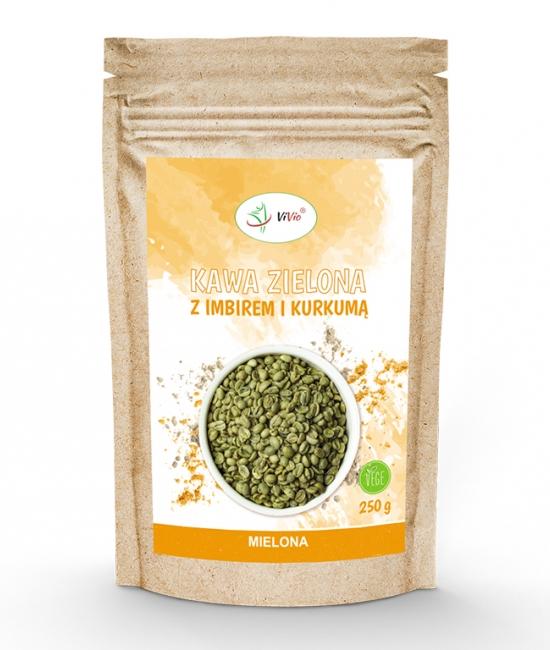 Kawa zielona mielona z imbirem 250g VIVIO