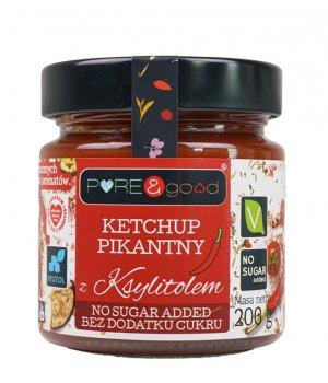 Ketchup pikantny z ksylitolem 200g PURE&good