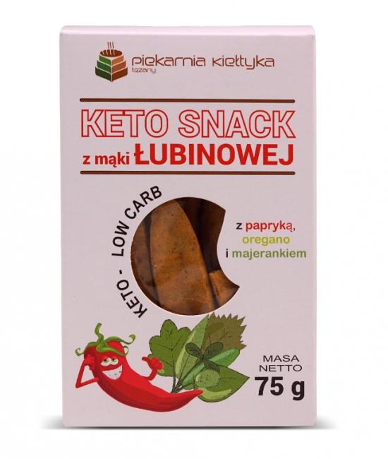 Keto snack z mąki łubin. z papryką 75g Kiełtyka