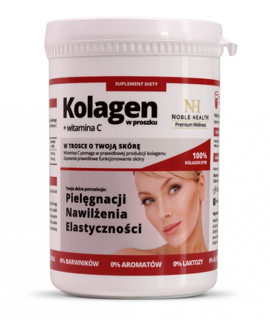 Kolagen+witamina C w proszku 100 g Noble Health