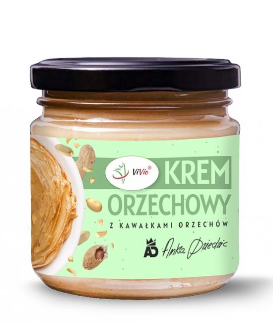 Krem orzechowy crunchy 200g VIVIO, masło orzechowe, do czego