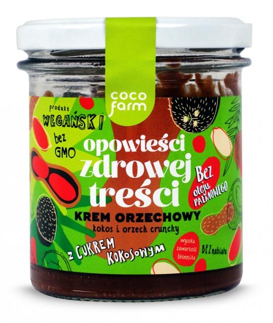 Krem Orzechowy - kokos i orzech crunchy 280g
