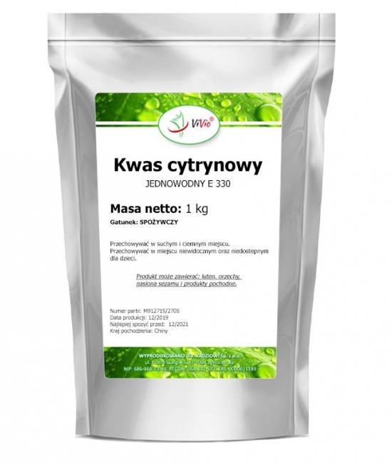 Kwasek cytrynowy jednowodny E330 1000g, kwas cytrynowy właściwości, zastosowanie