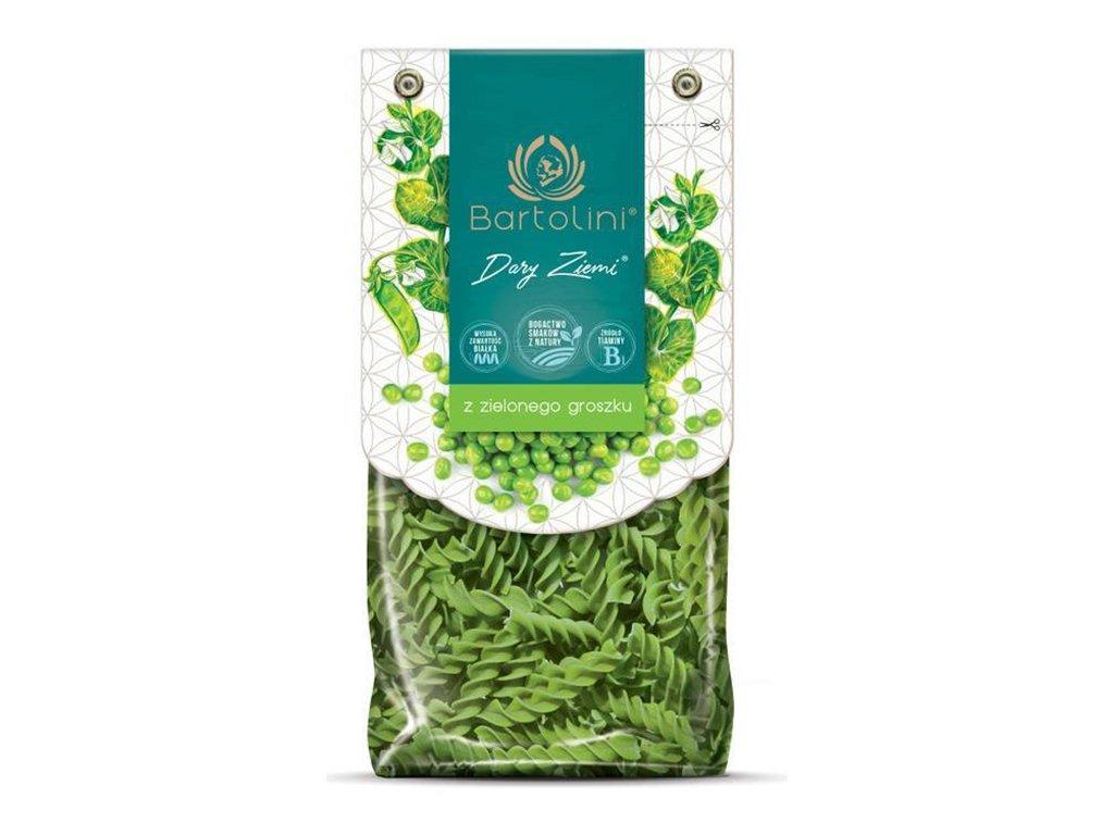 Makaron świderki z zielonego groszku 250g Bartolini