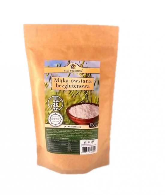 Mąka owsiana bezglutenowa 500g