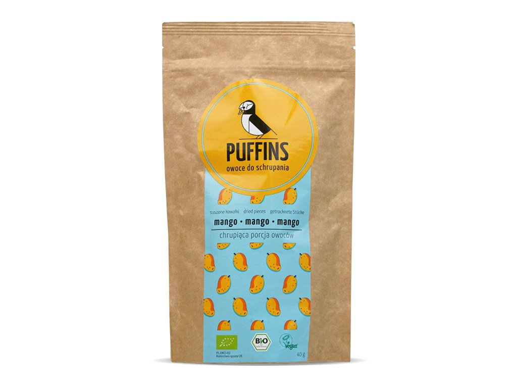 Mango suszone BIO 40 g - PUFFINS