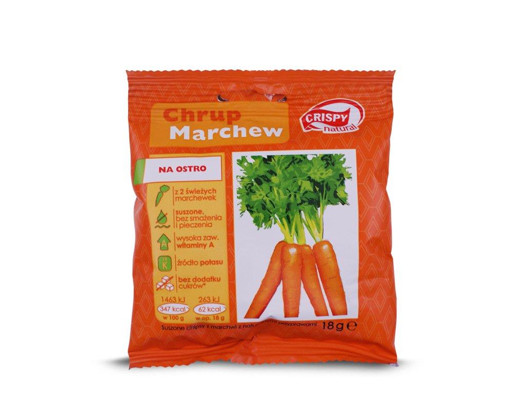 Suszone chipsy z marchwi 18g CRISPY