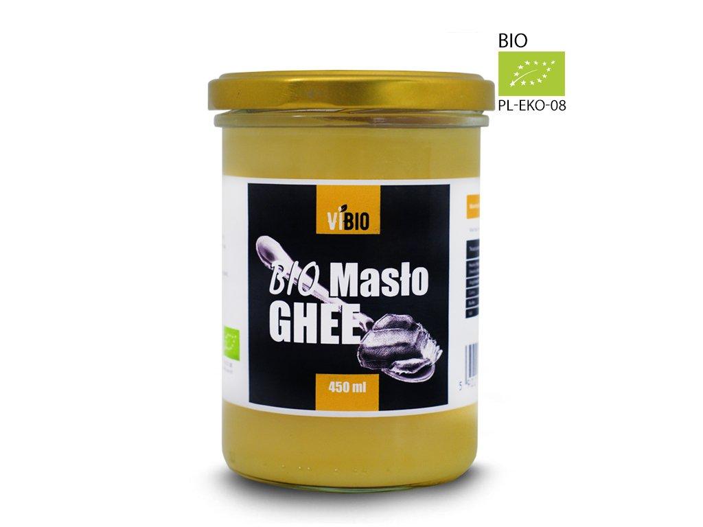 Ekologiczne Masło Ghee Vibio , bio masło klarowane 450ml