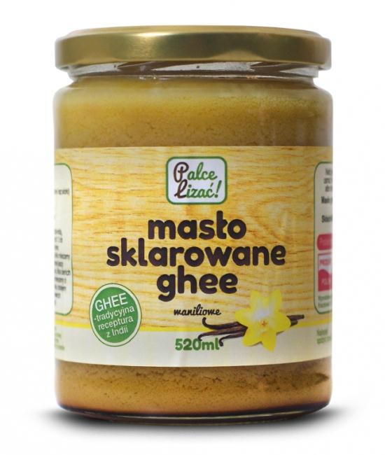 Masło sklarowane ghee waniliowe 520ml