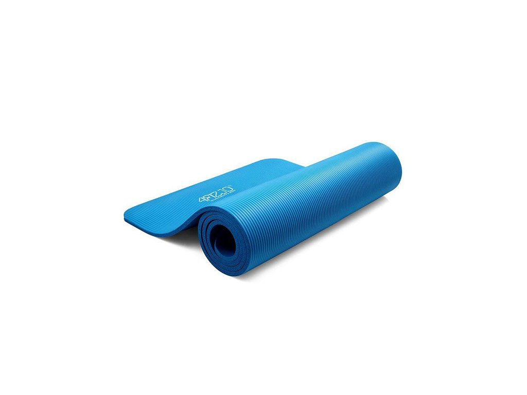 Mata do jogi 1cm niebieska