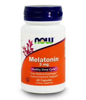 NOW - Melatonin 60 kapsułek