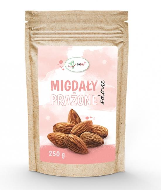 Migdały prażone solone 250g VIVIO, przekąska, kcal