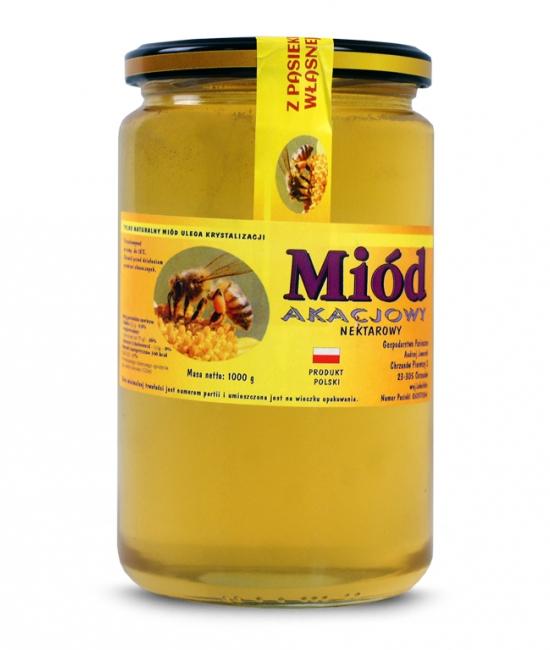 Miód akacjowy prosto z pasieki cena, właściwości