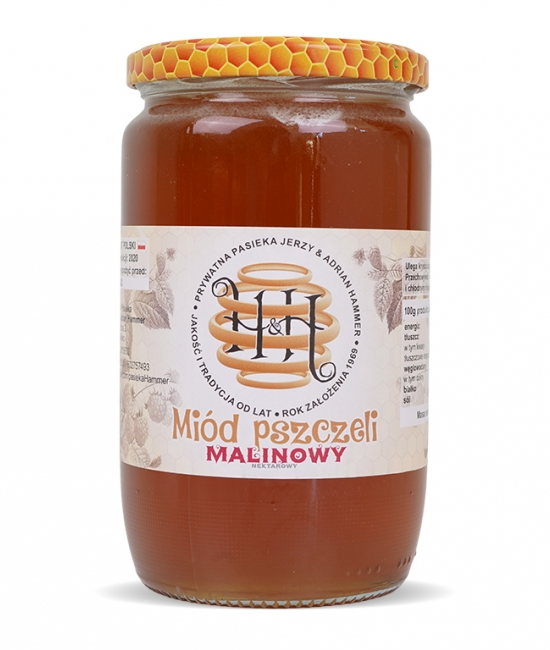 Miód pszczeli malinowy 1kg H&H