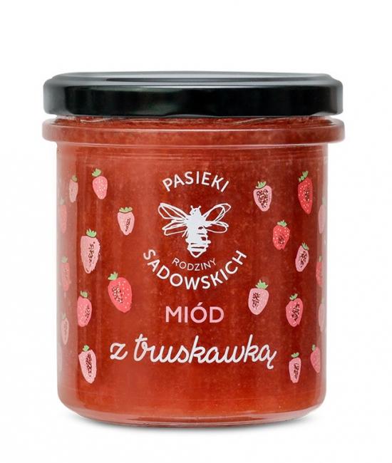 Miód z truskawką 430g P. Sadowskich