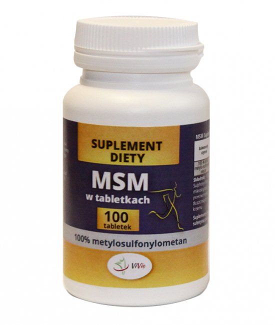 MSM w tabletkach 100 tabletek