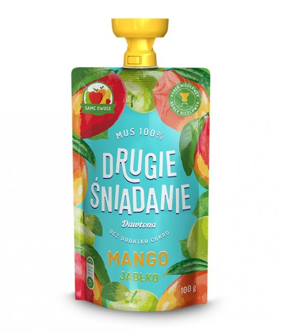 Mus owocowy-Jabłko/Mango 100% 100g Dawtona