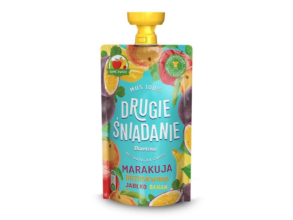 Mus Jabłko/Brzoskwinia/Marakuja/Banan 100g Dawtona