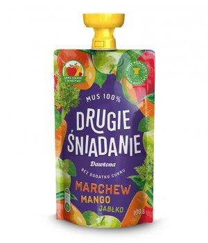 Mus owocowy-Jabłko/Mango/Marchew 100% 100g Dawtona