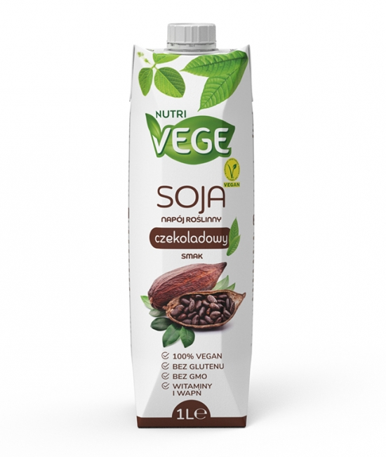 Wegański napój sojowy czekoladowy NUTRI VEGE