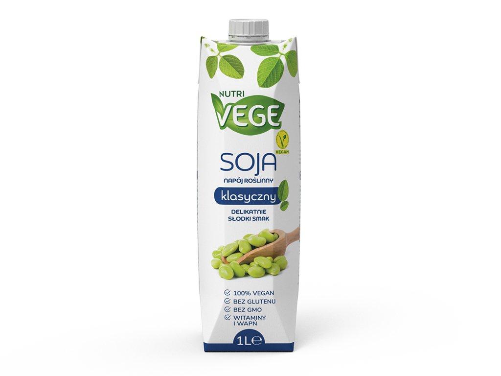 Wegański napój sojowy delikatnie słodzony NUTRI VEGE