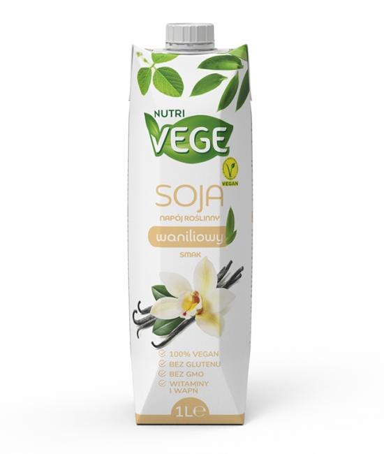 Wegański napój sojowy waniliowy NUTRI VEGE