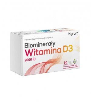 Witamina D3 2000 IU Biominerały 30 kapsułek Narum