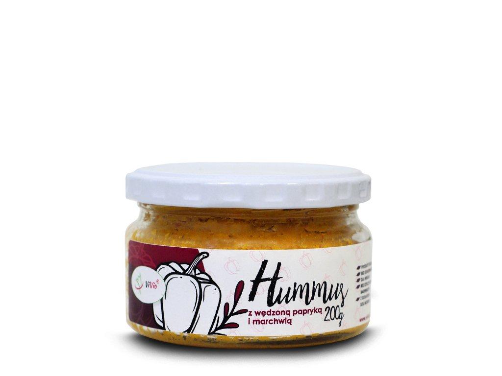 Hummus z wędzoną papryką i marchwią 200 g
