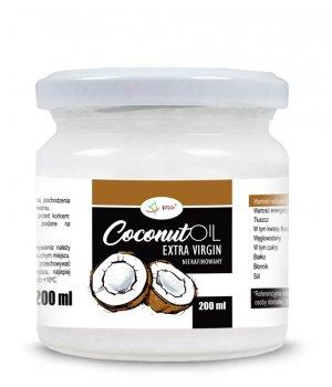 Olej kokosowy nierafinowany Virgin cena, właściwości