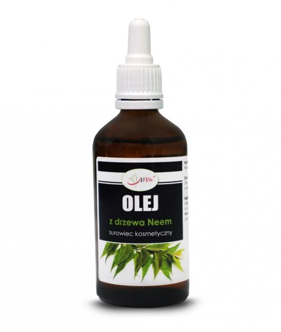 Olej z drzewa neem, olejek z miodli indyjskiej 50ml, właściwości