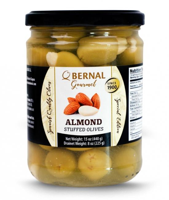 Oliwki Gourmet z migdałami 225g - BERNAL