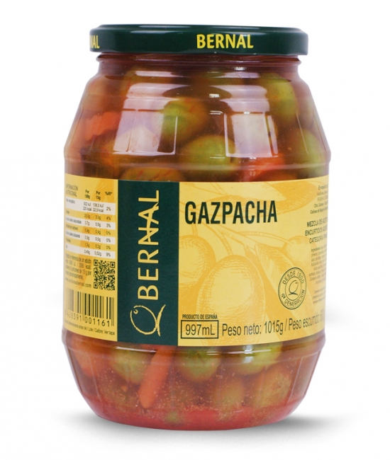Oliwki mieszane Gazpacho 600g - BERNAL