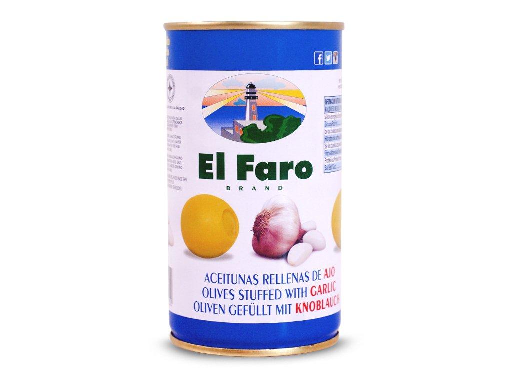 Oliwki Nadziewane Czosnkiem El Faro 350g