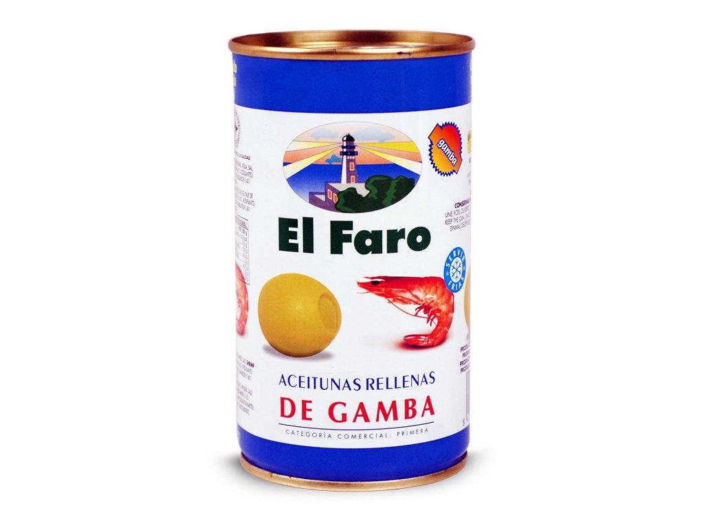 Oliwki Nadziewana Krewetkami 150g - EL FARO