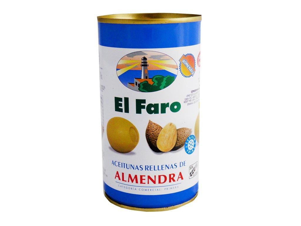 Oliwki Nadziewane Migdałami El Faro 350g