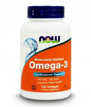 NOW - Omega 3 - 100 softgels