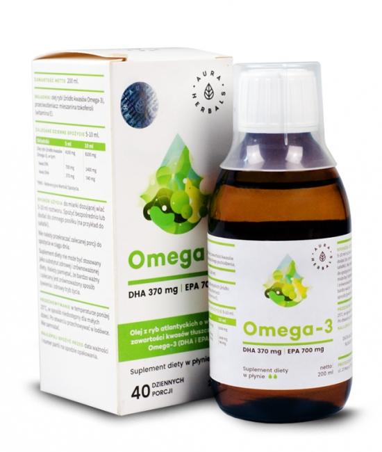 Omega-3 DHA 370mg 200ml Aura Herbals