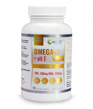 Omega 3 Fort GoldDHA220+vit E - 90 kapsułek WISH