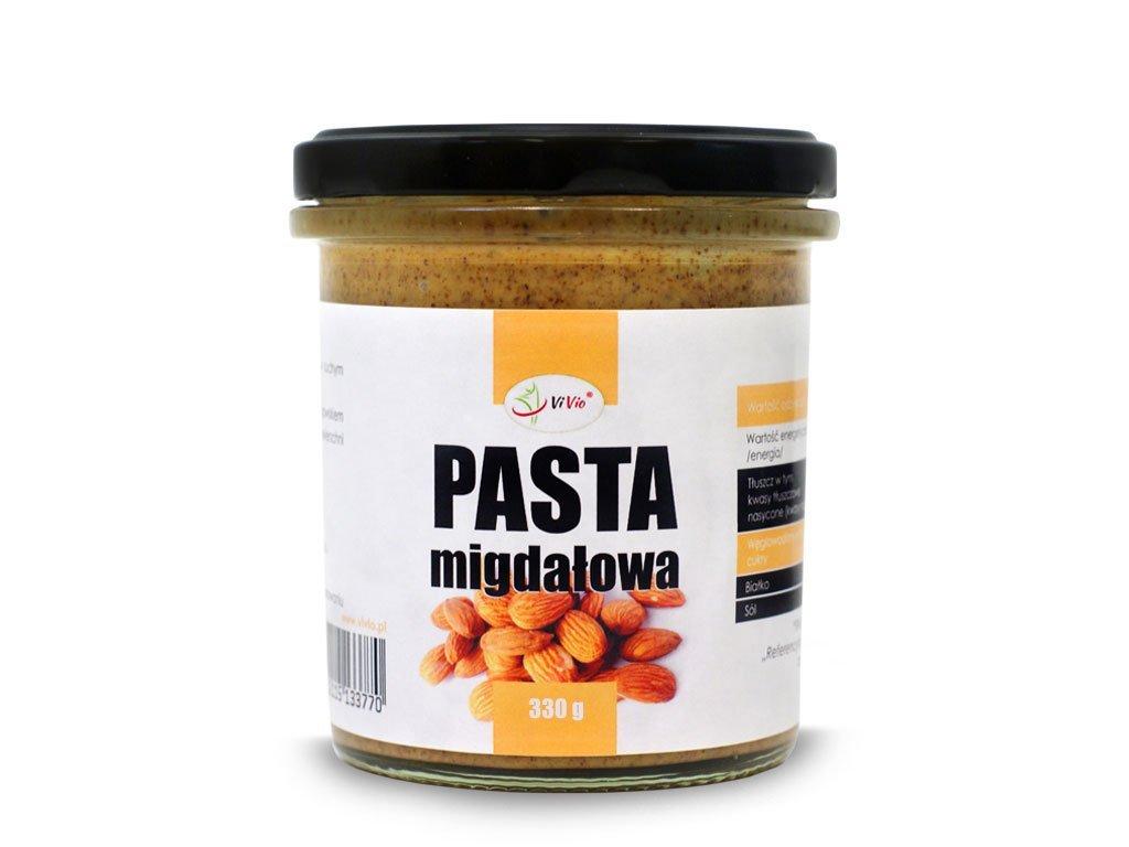 Pasta migdałowa 330g, pasta migdałowa Vivio, właściwości, przepis
