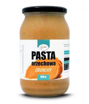 Pasta orzechowa (masło orzechowe) CRUNCHY 900g, przepisy, kcal