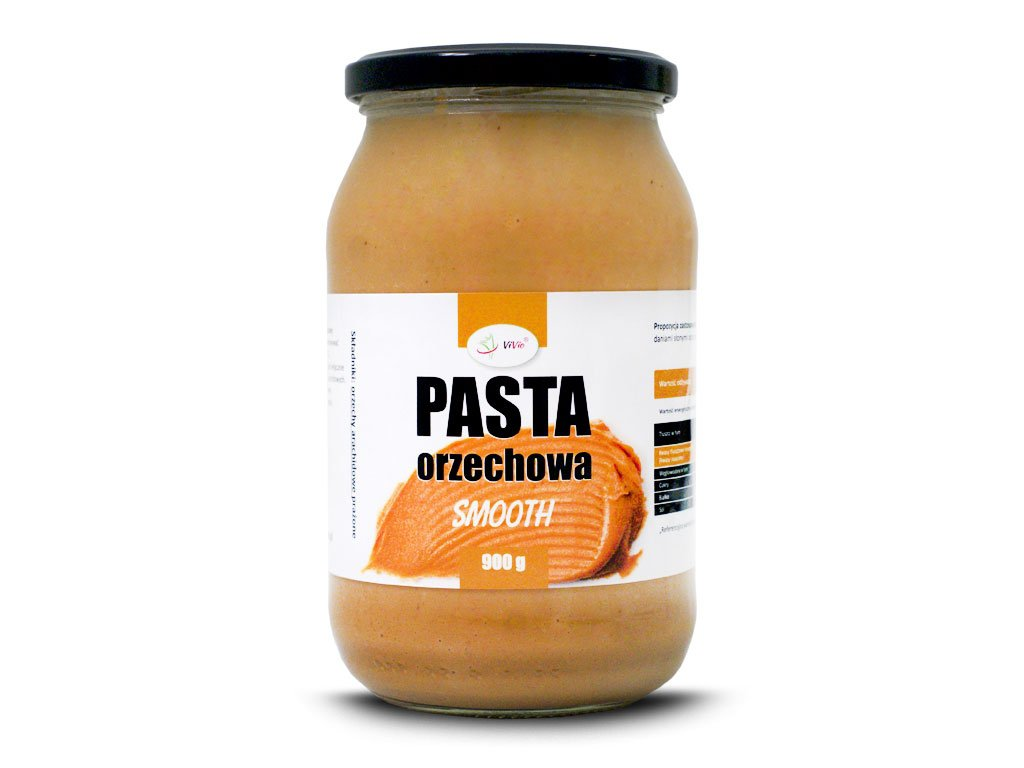 Pasta orzechowa, masło orzechowe SMOOTH 900g