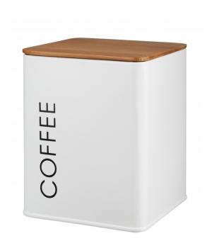 Pojemnik metalowy COFFEE biały GALICJA