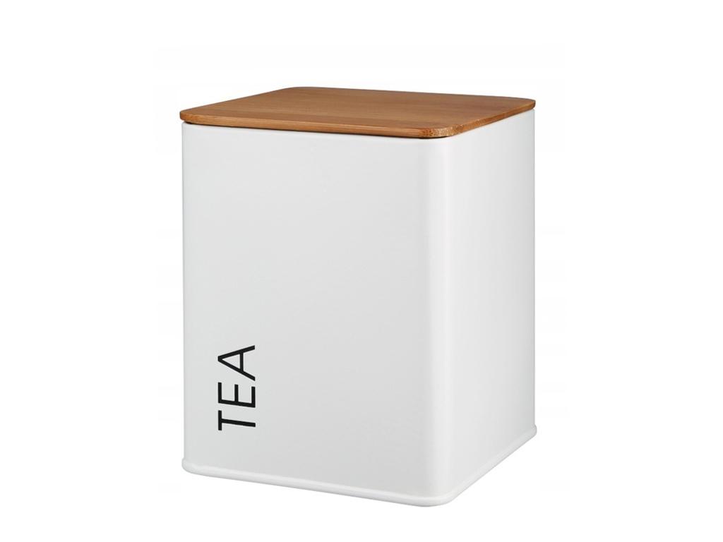 Pojemnik metalowy TEA biały GALICJA