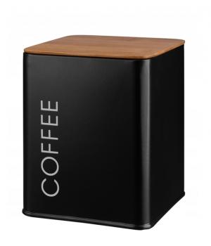 Pojemnik metalowy COFFEE czarny GALICJA