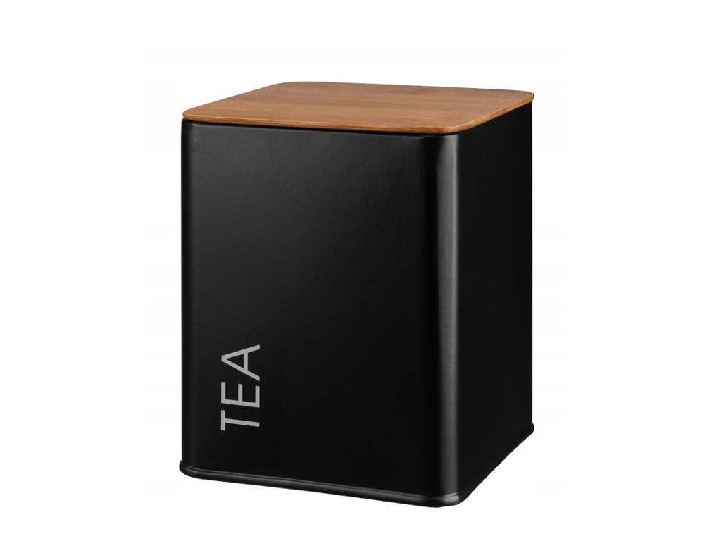 Pojemnik metalowy TEA czarny GALICJA