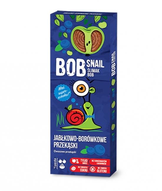 Przekąska jabłko/borówka kartonik 30g BobSnail