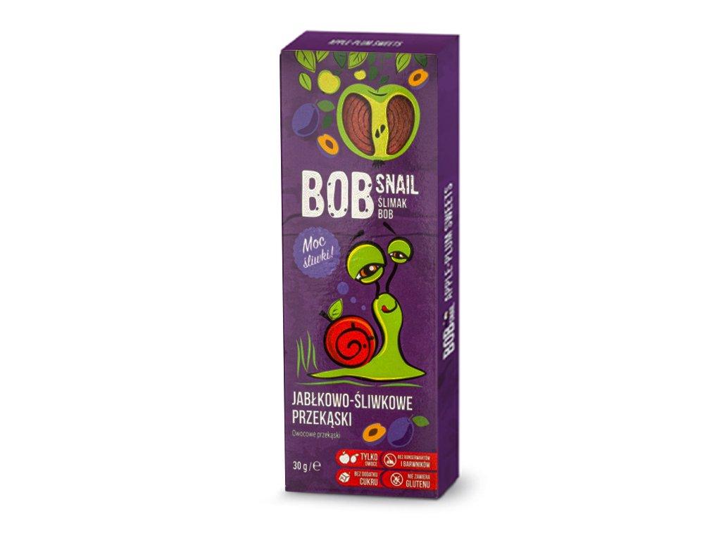 Przekąska jabłko/śliwka kartonik 30g BobSnail