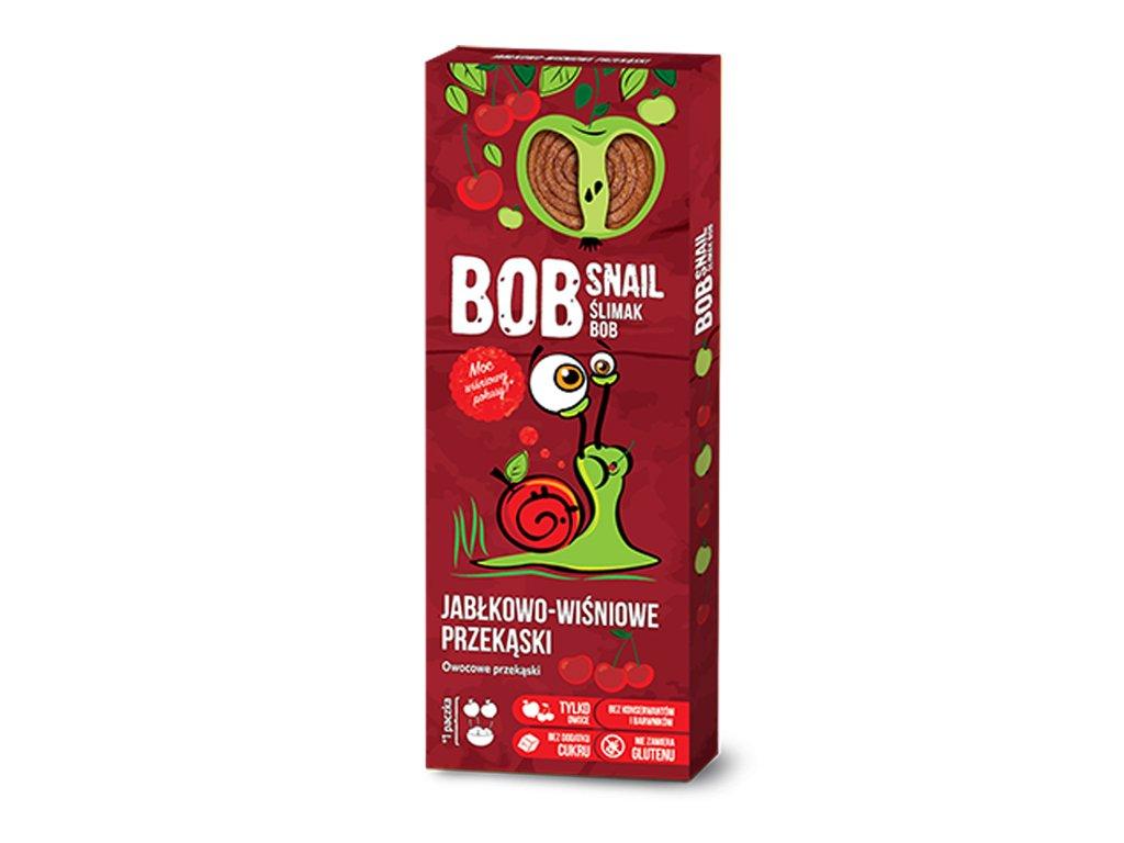 Przekąska jabłko/wiśnia kartonik 30g BobSnail