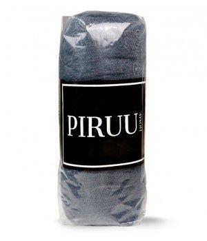Prześcieradło Jersey 160x200 bawełna z gumką CIEMNO SZARE PIRUU